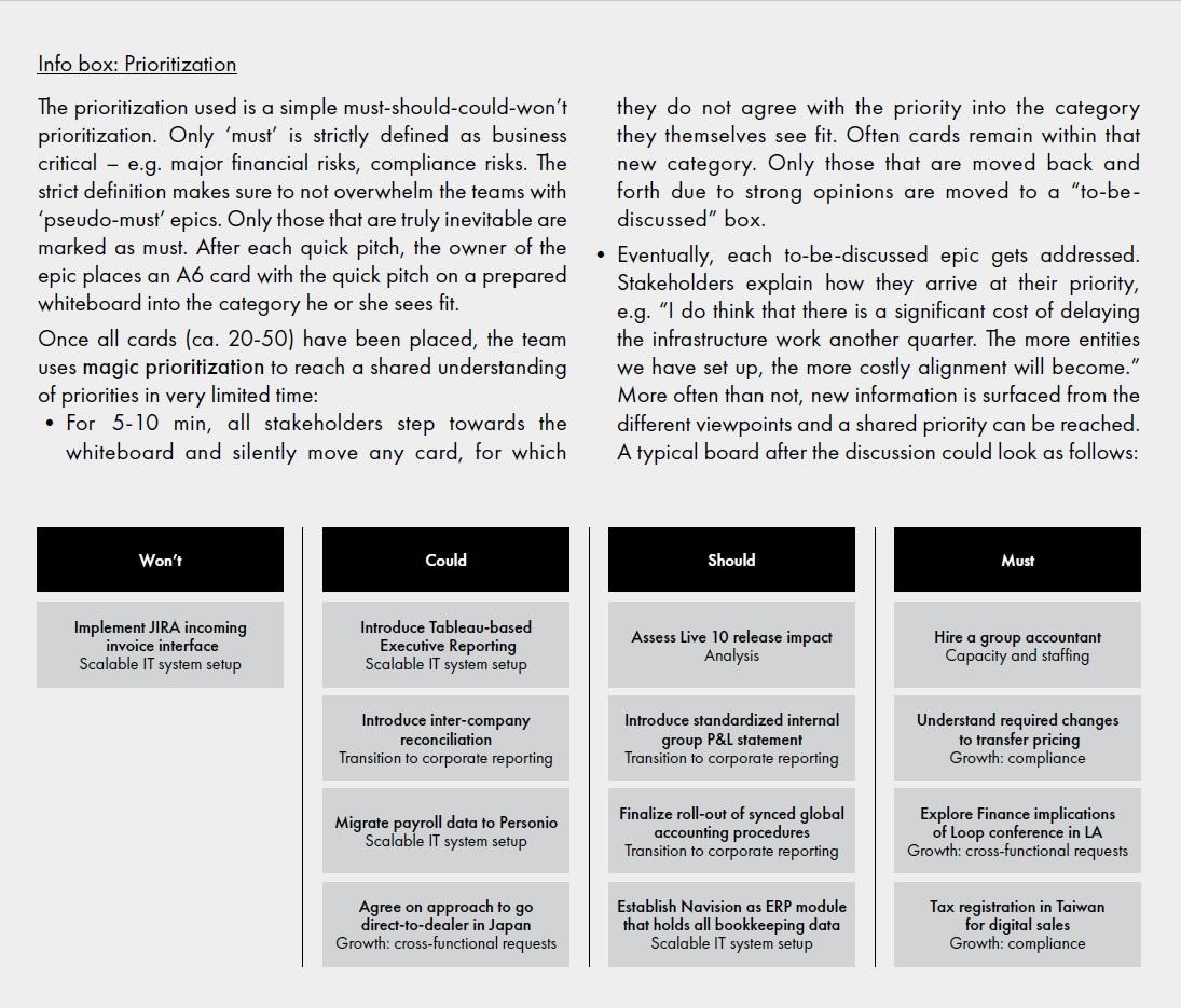 Ableton - Info Box: Prioritization