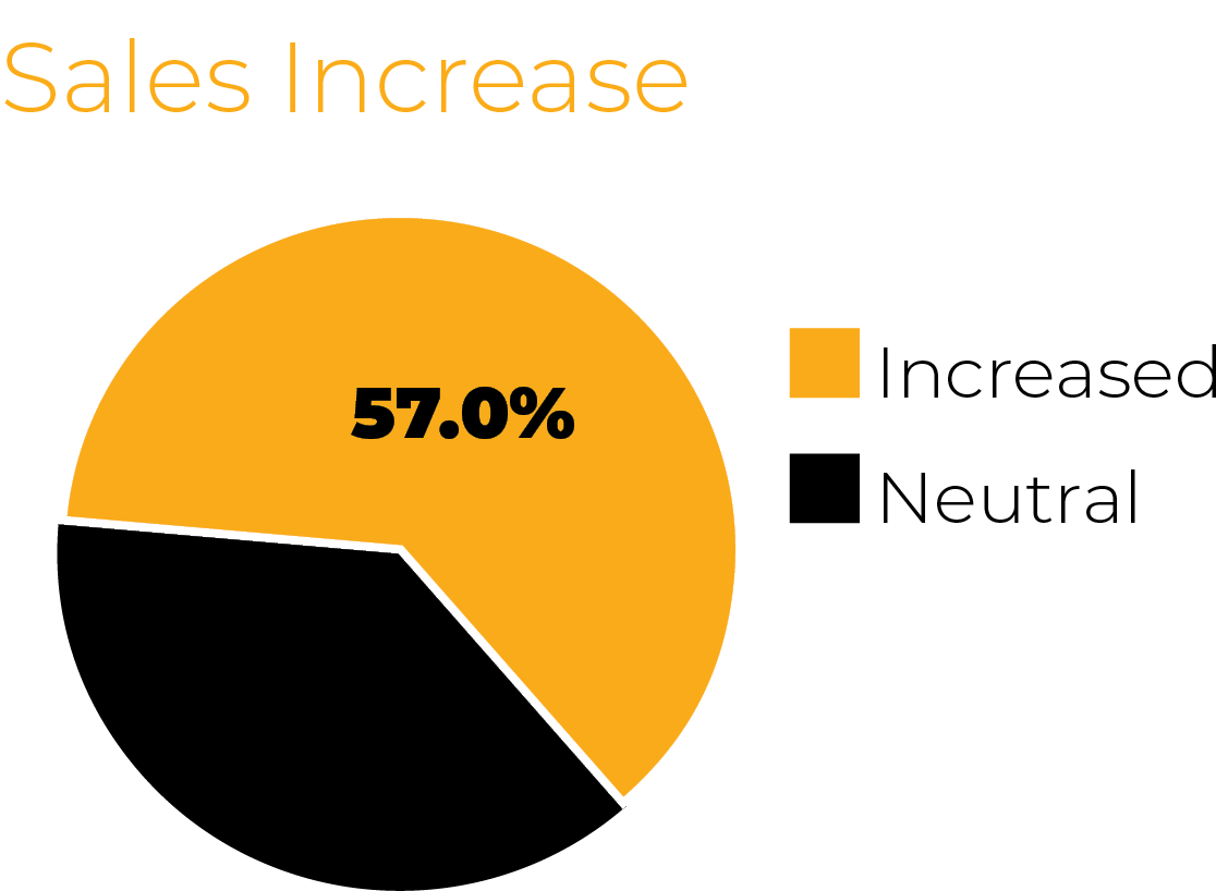Sales Increase chart